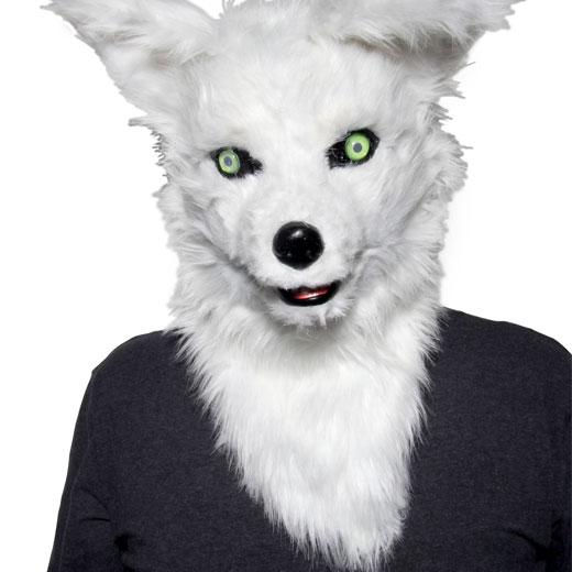 Máscara de Zorro Blanco Mr. Fox