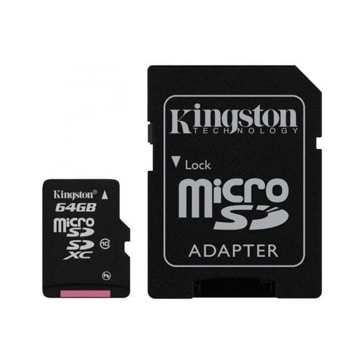 Cartão Kingston Micro SD C/ Adaptador SD 64GB