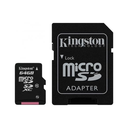 Cartão Kingston Micro SD C/ Adaptador SD 64GB