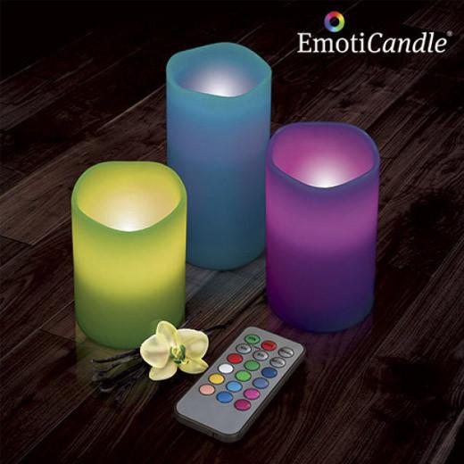 Velas LED Emoticandle (Pack 3)