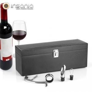 Estojo Prenda de Vinho com Acessórios Sommelier