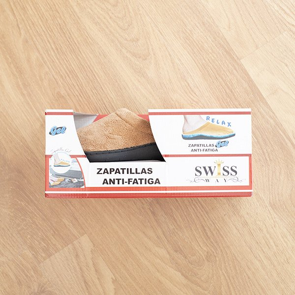 Zapatillas Relax de Gel Marrón