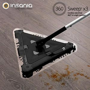 Escoba eléctrica triangular sin hilos 360 Sweep