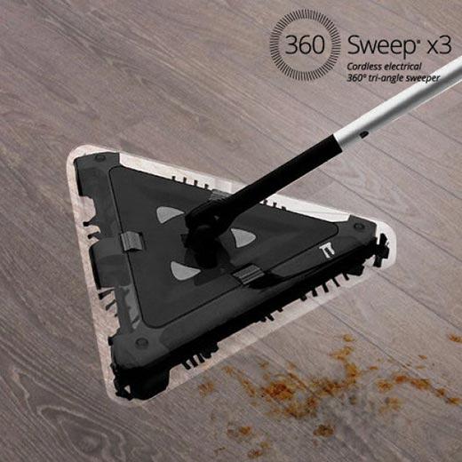 Vassoura Elétrica Triangular Sem Fios 360 Sweep