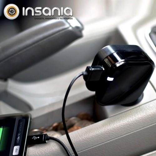 Cargador USB doble para la casa y el coche