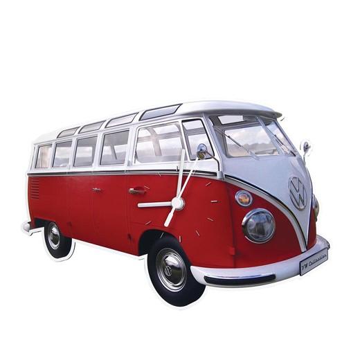 Relógio de Parede VW Pão de Forma Vermelho