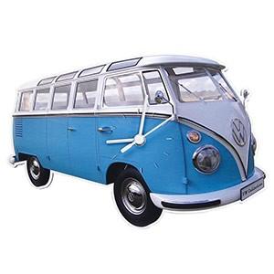Relógio de Parede VW Pão de Forma Azul