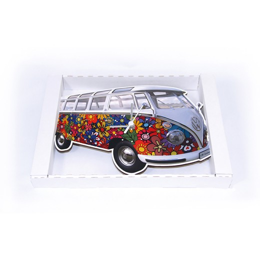 Relógio de Parede VW Pão de Forma Flores