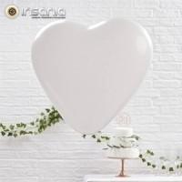 Balões Coração Branco 26 cm (Pack 10)