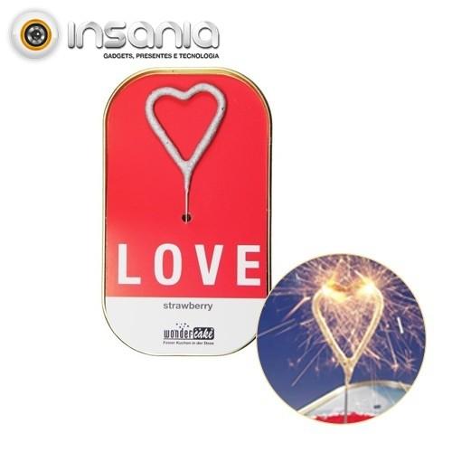 Bolo em Lata Sparkler Coração - Love