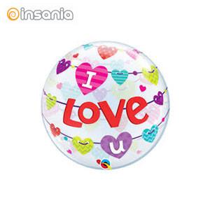 Bubble Corações I Love You