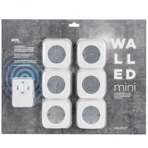 Focos LED Walled c/ Comando (Pack 6)