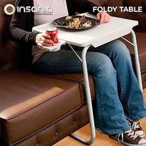 Mesa Plegable con Apoyavasos Foldy Table