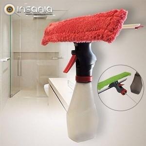 Limpa-vidros 2-em-1 c/ Reservatório e Borrifador