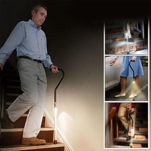 Bastón con Luz de Presencia LED