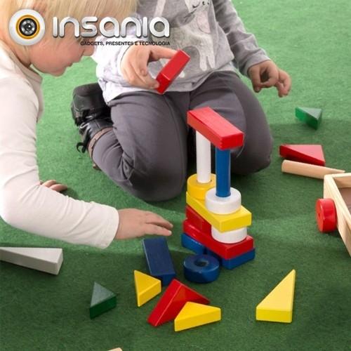 Jogo de Construção com Carrito (24 peças)