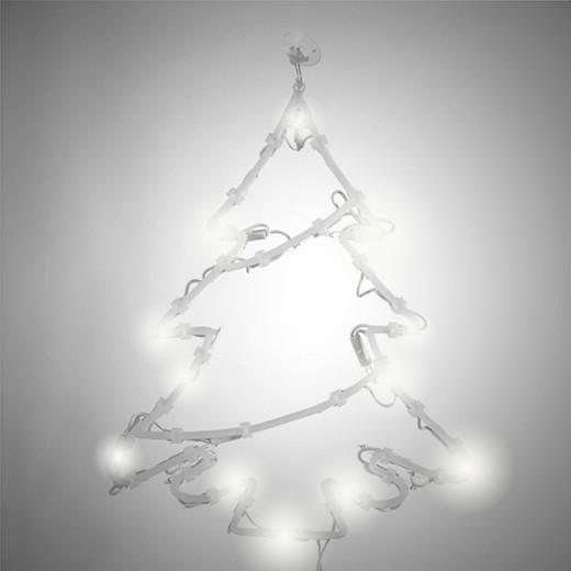 Forma Natilícia para Janela com Luzes LED