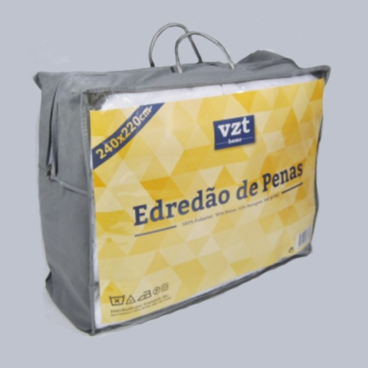 Edredón Plumas Matrimonio 240x220 cm (580g/m2)