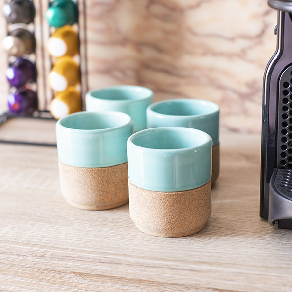 Taza de Expresso Azul (Pack 4)