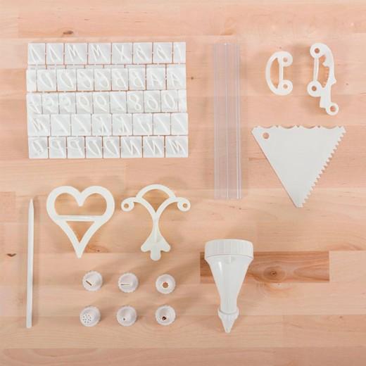 Kit de Decoración de Tartas Tasty American (100 piezas)