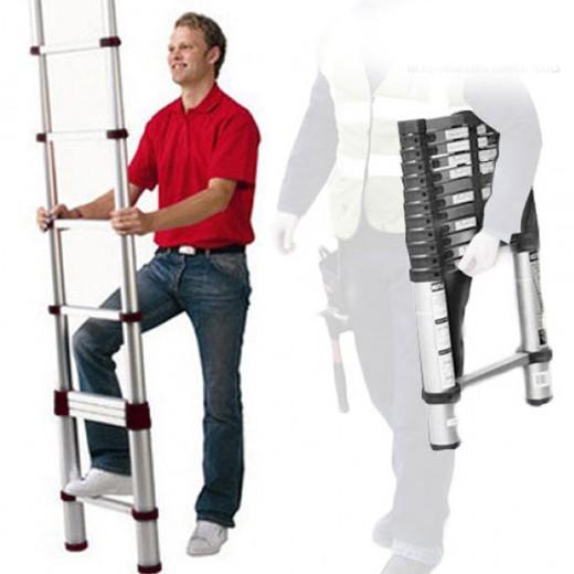 Escada Telescópica Extensível XXL Alumínio (2,60 m)