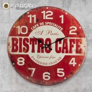 Relógio de Parede Bistro Café
