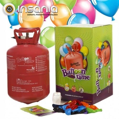 Kit Bombona de Helio para 30 Globos (30 globos incluidos)