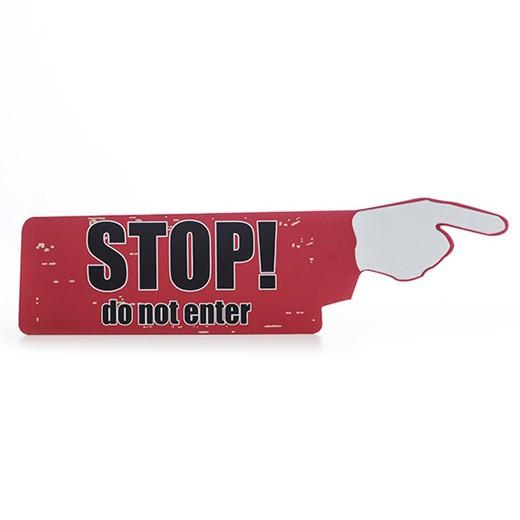 Placa de Madeira Stop! Do Not Enter
