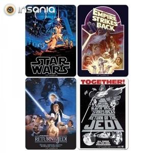 Bases para Copos Star Wars (Pack 4)