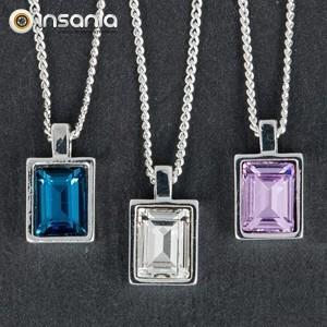 Colar Cristal Retângulo