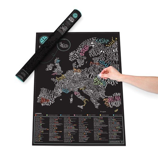 Mapa Europa Raspadinha Gourmet