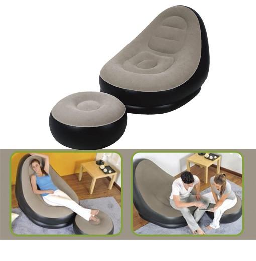Cadeira Insuflável com Repousa-pés