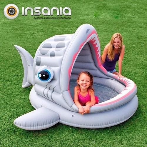 Piscina Insuflável Tubarão
