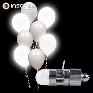 Luz LED Branco Fixo para Balão