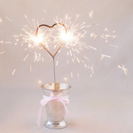 Vela Sparkler Coração 17 cm