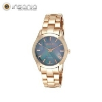Relógio Henley Dourado Rosa e Azul