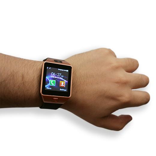 Smartwatch c/ Câmara e GSM Android e iOS Gold