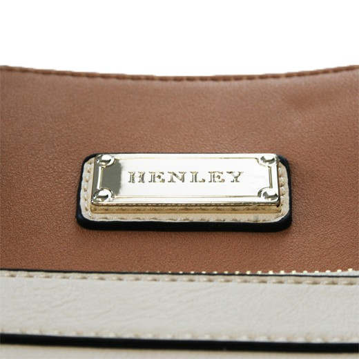 Bolso de Hombro Henley Kendall Crema/Marrón/Negro
