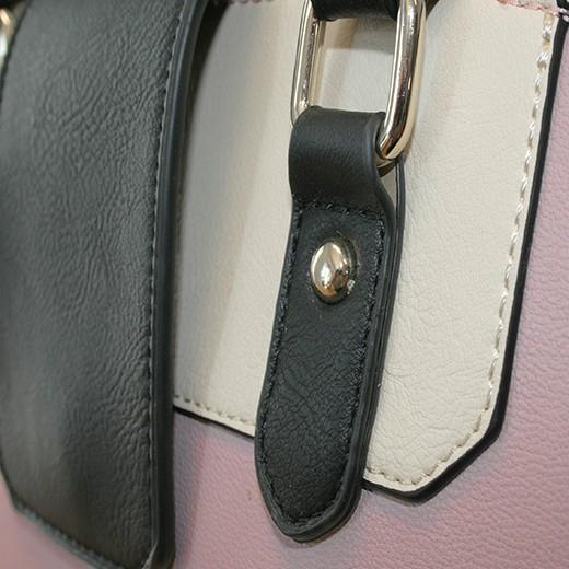 Bolso de Hombro Henley Christy Rosa/Crema/Negro