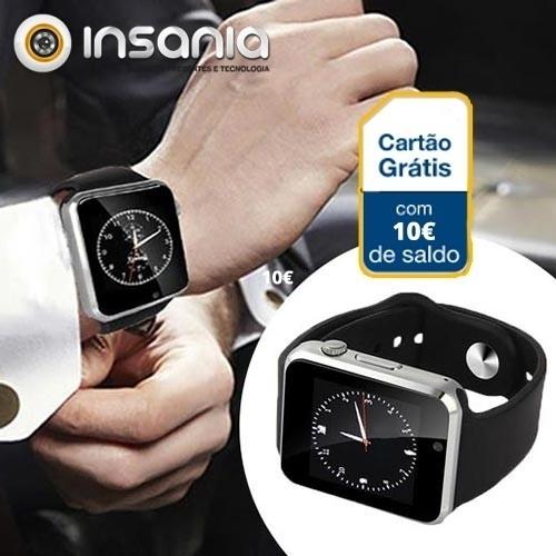 Smartwatch c/ Câmara Android e IOS GSM S1 c/ 10 euros em Saldo