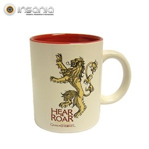 Caneca Branca e Vermelha Lannister Game of Thrones