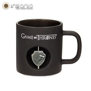 Caneca Preta Stark Logo 3D Game of Thrones