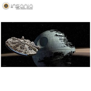 Póster Halcon vs. Death Star Star Wars