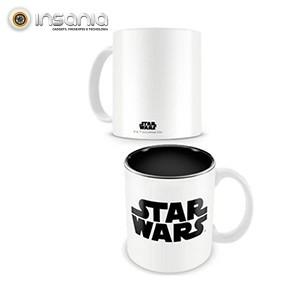 Caneca Branca Logo Preto Star Wars