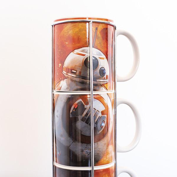 Conjunto de 3 tazas de Café BB-8 Star Wars