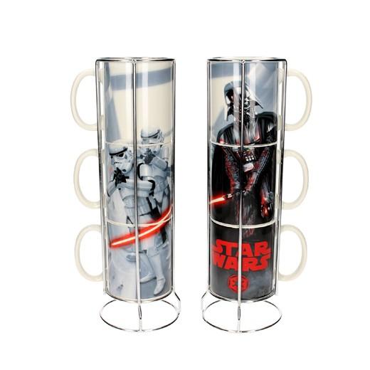 Conjunto de 3 Canecas Darth Vader Stormtroopers Star Wars