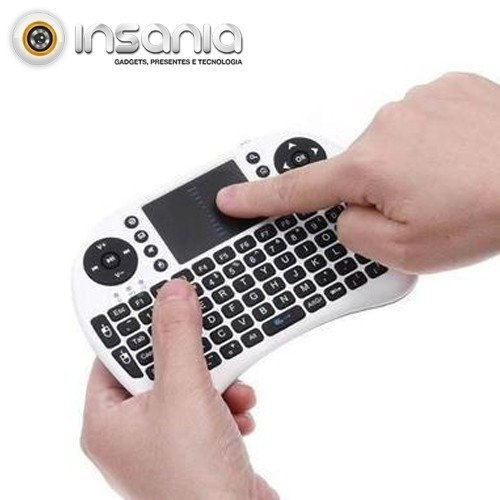 Mini Teclado Sem Fios Touchpad PC e Android