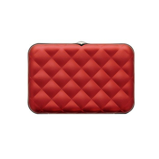 Cartera Quilted Button Ögon Roja