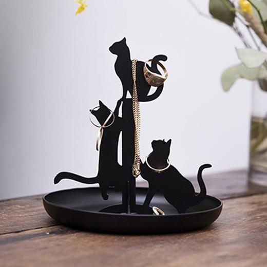 Soporte para Joyas Gatos Negros