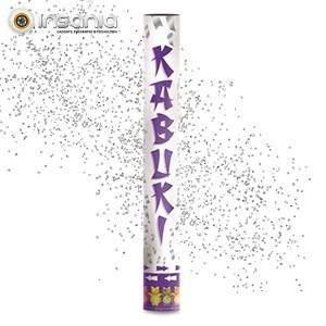 Tubo de Confettis Prata 40 cm